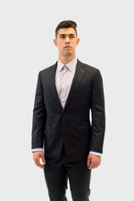 Load image into Gallery viewer, Loro Piana Black Chalk Stripe Suit