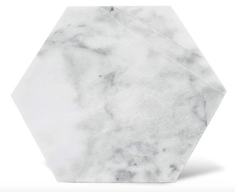 White Hexagon Marble Coaster