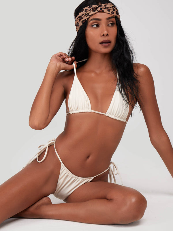 Off white full set micro Bali Bikini cream white