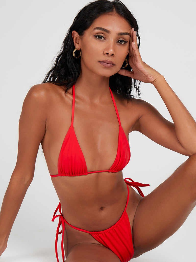The Alysia bikini in Red