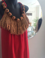 mali dress with removable handcrafted neckpiece