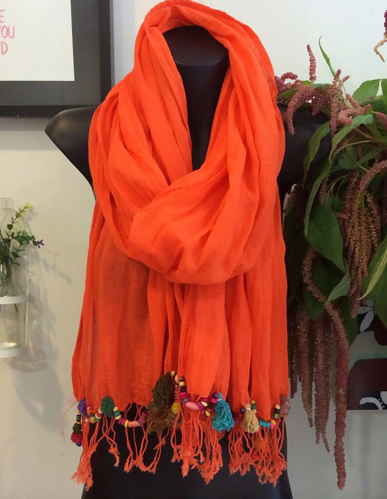 spring scarf (orange) sold out