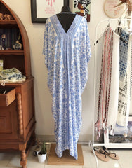 v-neck long kaftan dress