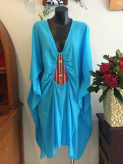 front detailed kaftan dress