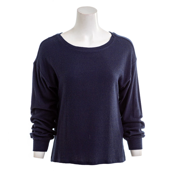 LUCKY BRAND Women's Lightweight Ribbed Sweater