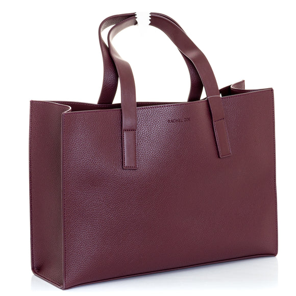 RACHEL ZOE Box Of Style Curateur Tote Bordeaux Vegan Leather