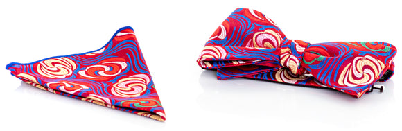 Verse 9 Silk Bow Tie & Pocket Square Set