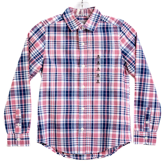 THE CHILDRENS PLACE 2500197 RN 59284 Boys Long Sleeve Plaid Button Down Shirt