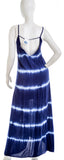 FRAICHE BY J 1655T RN 13251 Womens Blue Tie Dye Tank Dress