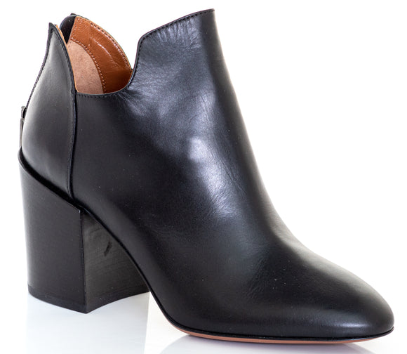 AQUATALIA Calf Ankle Boots Black