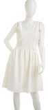 Ivanka Trump Womens White Floral Sleeveless Dress