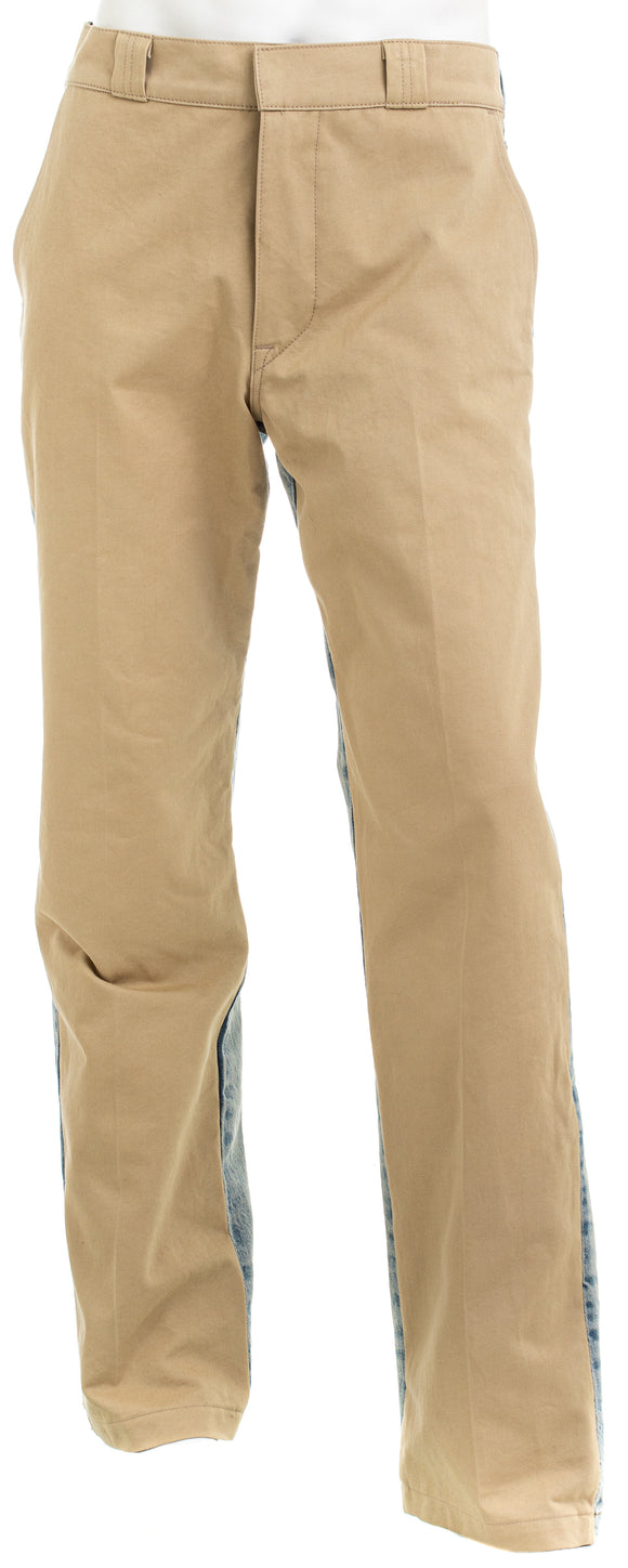 HUDSON m295djr Mens 2 Tone Jeans Blue and Khaki