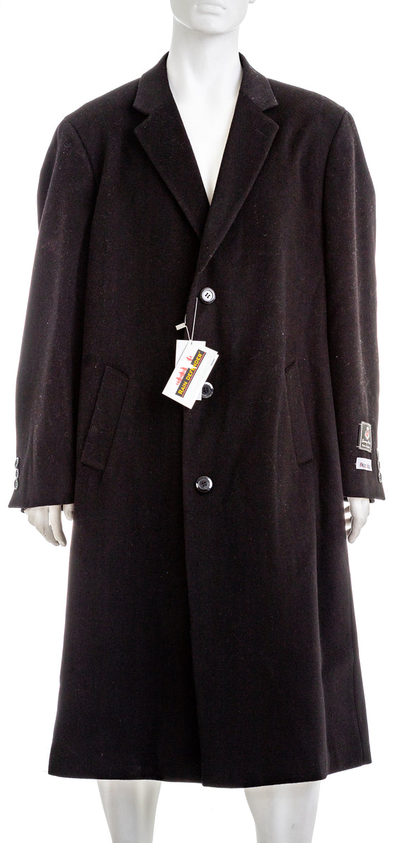 ADAM BAKER Harvard Mens Rain Defender Wool Blend Coat Black