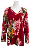 HEIMISH USA Womens Long Sleeve Floral Blouse