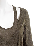 CARTISE Metallic Tie Front Layered-Look Blouse NWOT