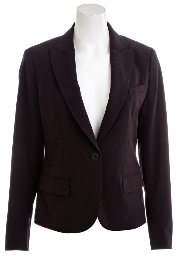 ANNE KLEIN Womens 1-Button Jacket