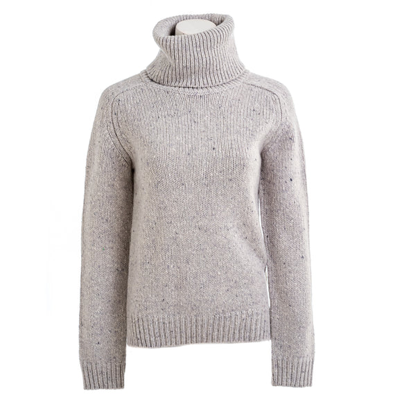 ADAM LIPPES Women's Turtleneck in Marled Cashmere