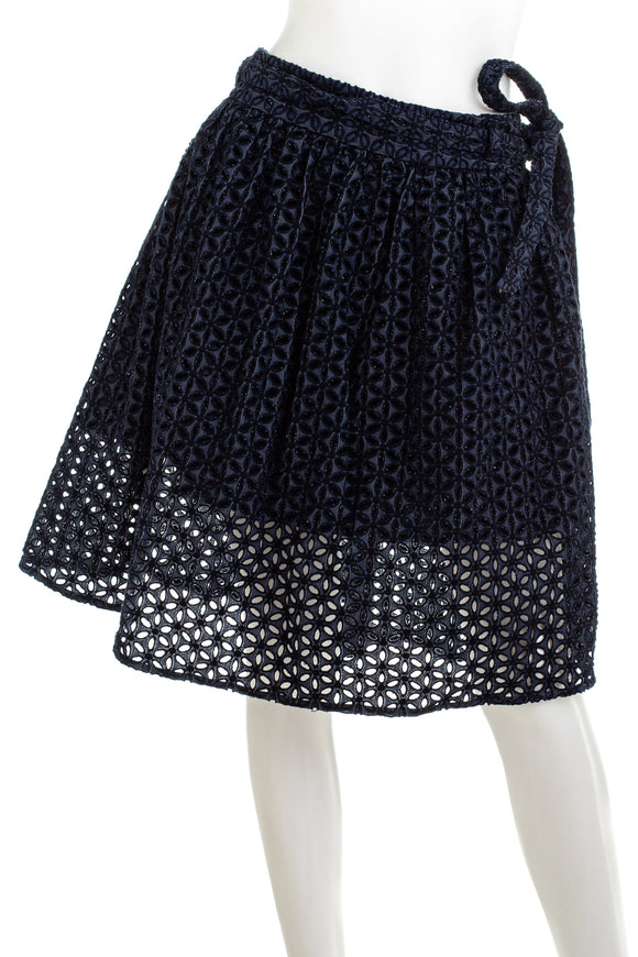 BANANA REPUBLIC Allover Lace Pleated Skirt