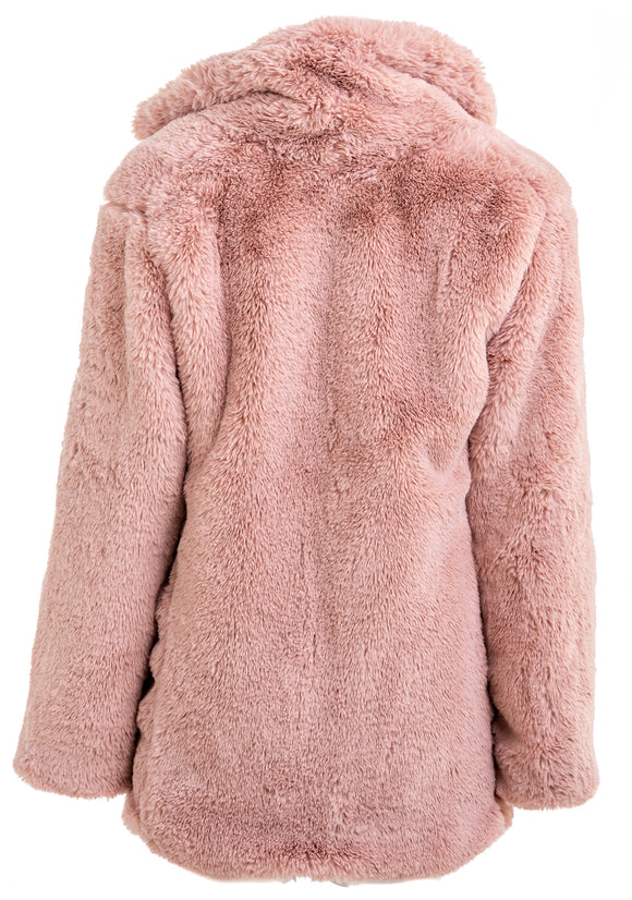 BAILEY 44 Paley Pink Faux Fur Coat