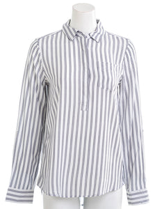ALEXANDER JORDAN Long Sleeve Railroad Stripe Blouse