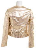 QIU URBANO LEATHER Womens Diana Metallic Jacket