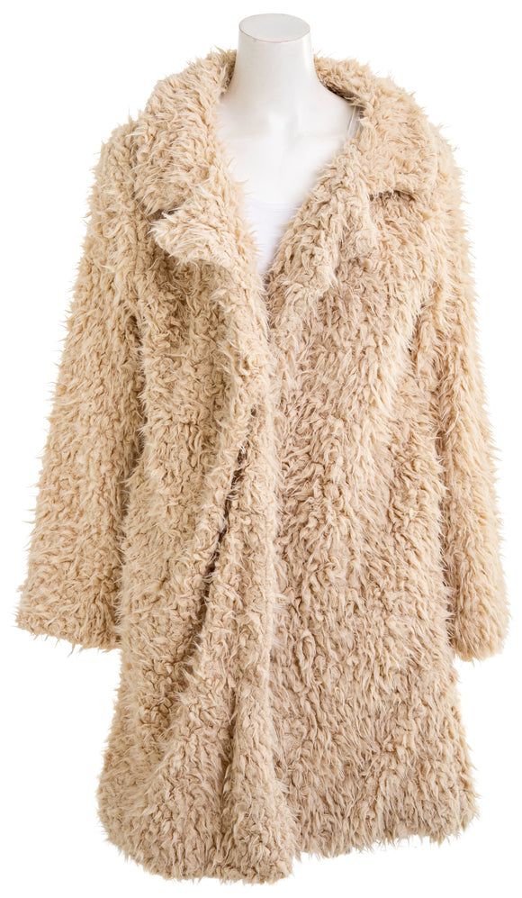 BOOHOO QD1138392 Womens Faux Fur Coat