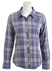 ONEILL Womens Plaid Button Down Long Sleeve Top