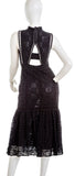 REBECCA TAYLOR Sleeveless Crocheted Lace Dress in Black