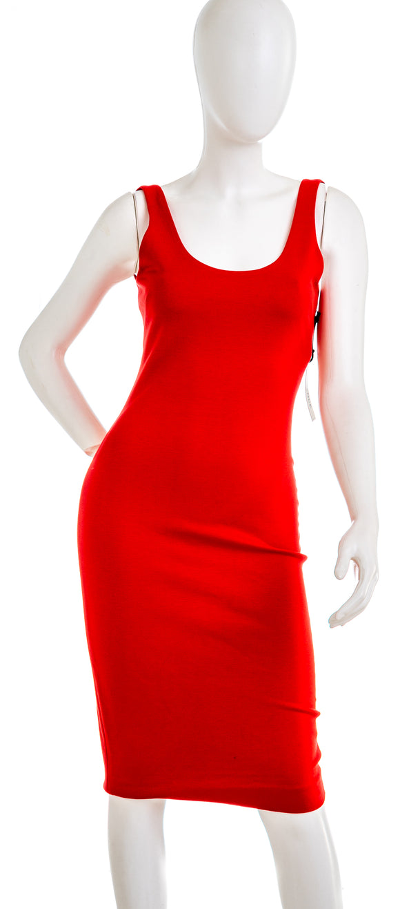 LAGENCE Bodycon Sleeveless Dress in Red