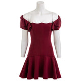 ELLIATT Merlot Ponte Knit Dance Mini Dress