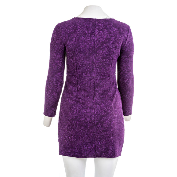 VICKY AND LUCAS Embellished Purple Lace Dress