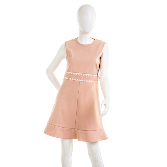 RED VALENTINO Blush PInk Sleeveless Shift Dress