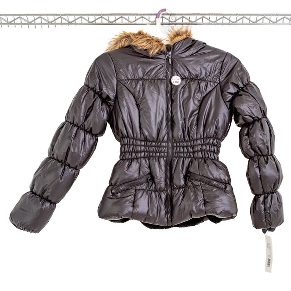 ROTHSCHILD  Big Girls Hooded Puffer Jacket With Faux-Fur Trim