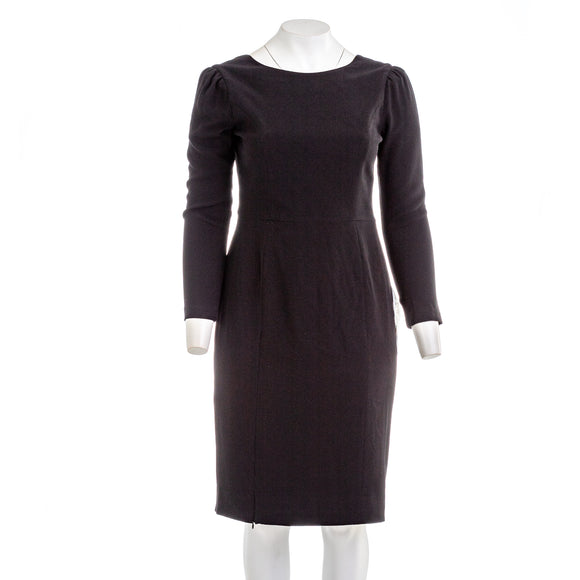 Dress The Population Nadia Long Sleeve Scoop Back Midi Dress
