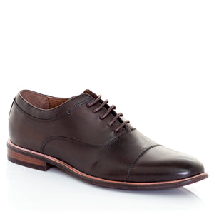 Toecap Men's Chocolate Lace-up Oxford