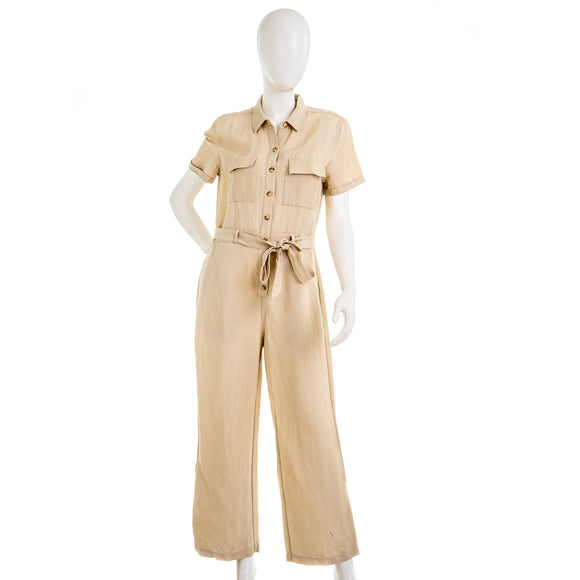 Rails Women's Callie Belted Utility Linen Blend Jumpsuit