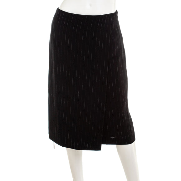 M.m. Lafleur Logan Faux Wrap Skirt In Faded Stripe