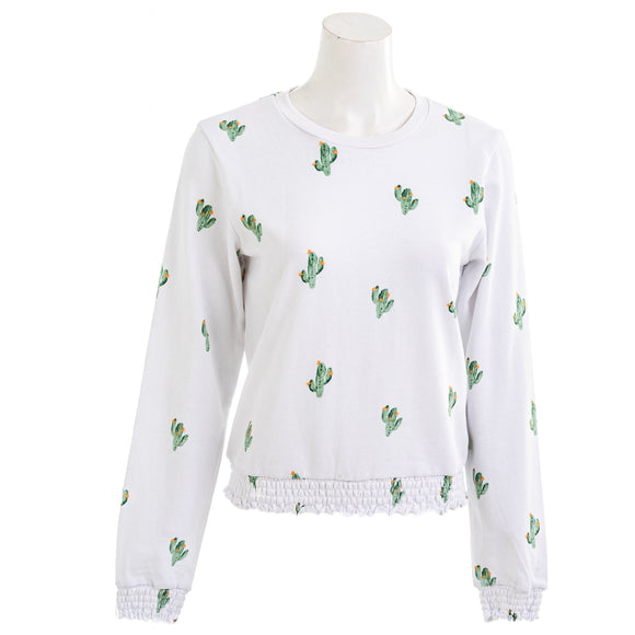 Another Love Women's Cactus Print Sweatshirt