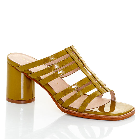 Intentionally Blank Stamps Strappy Slip On Patent Sandal