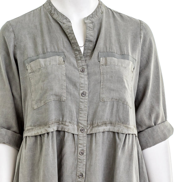 Cloth & Stone Lila Chambray Shirtdress