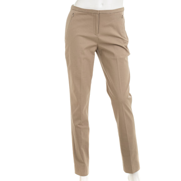 Elie Tahari Womens Tan Jillian Slim Pant