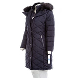 Calvin Klein Women's Faux-Fur-Trim-Hooded Puffer Coat