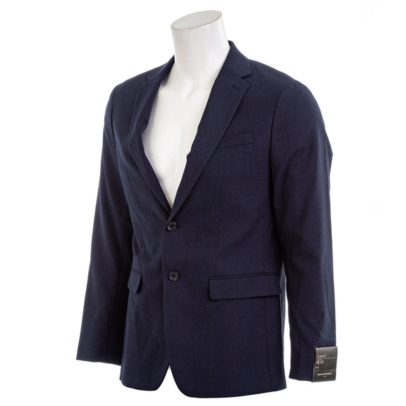Banana Republic Men's Slim Fit Stretch Navy Textured Knit Blazer