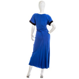 & Other Stories Blue Dress With Black Trim