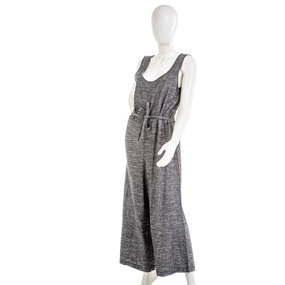 Max Studio V Neck Linen Blend Jumpsuit