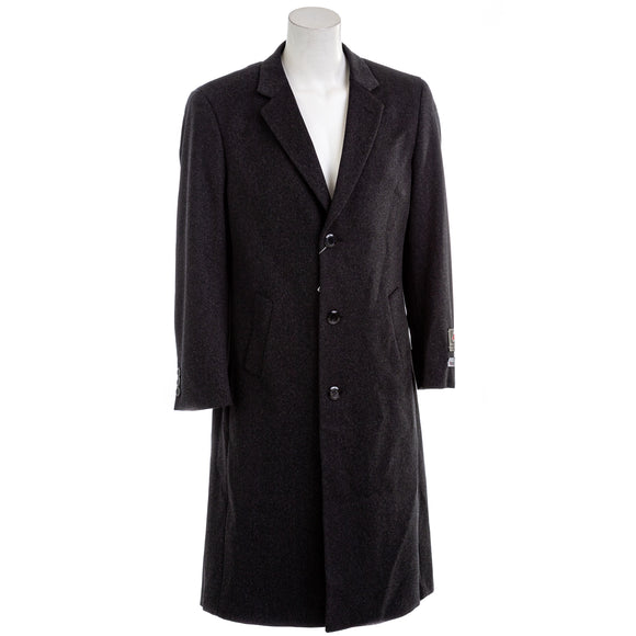 Adam Baker Men's Harvard Charcoal Wool Blend Coat