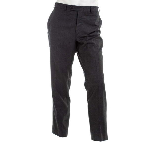 Lauren Ralph Lauren Solid Charcoal Dress Pants
