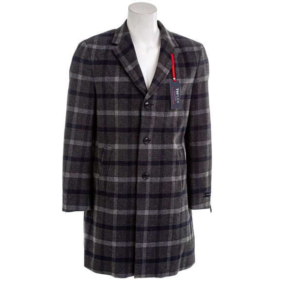 Tommy Hilfiger Men's Modern Fit Plaid Addison Overcoat
