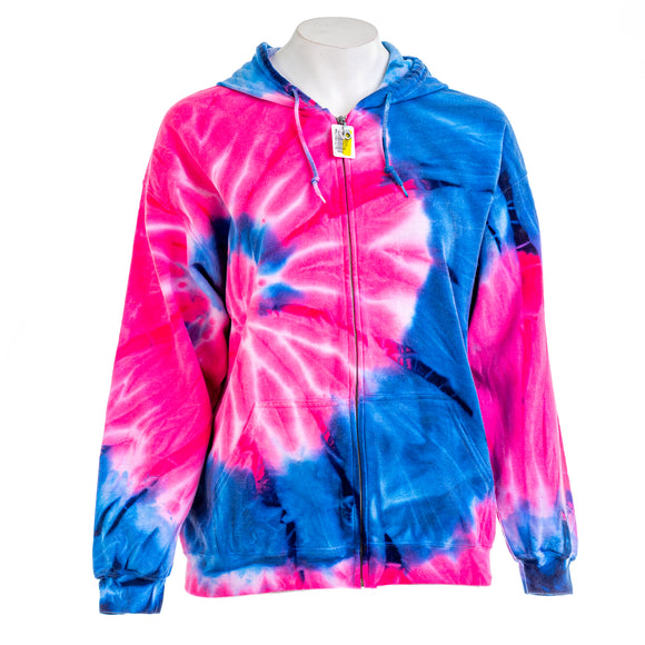 Carmar - Women's Spiral Tie Dye Zip Up Sweatshirt