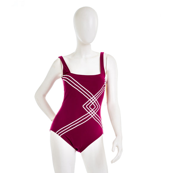 Gottex Square Neck High Back Swimsuit